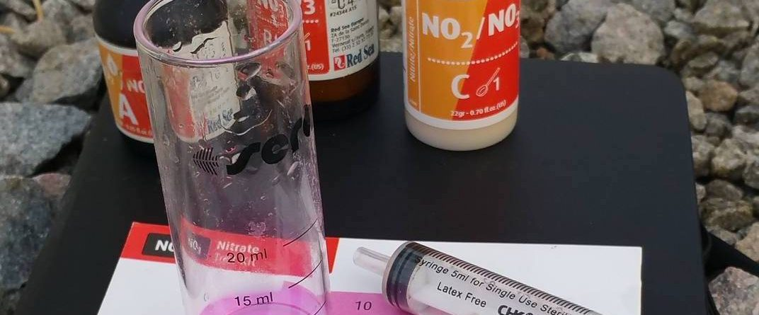 pH, nitrate, nitrite test kits in fishless cycling